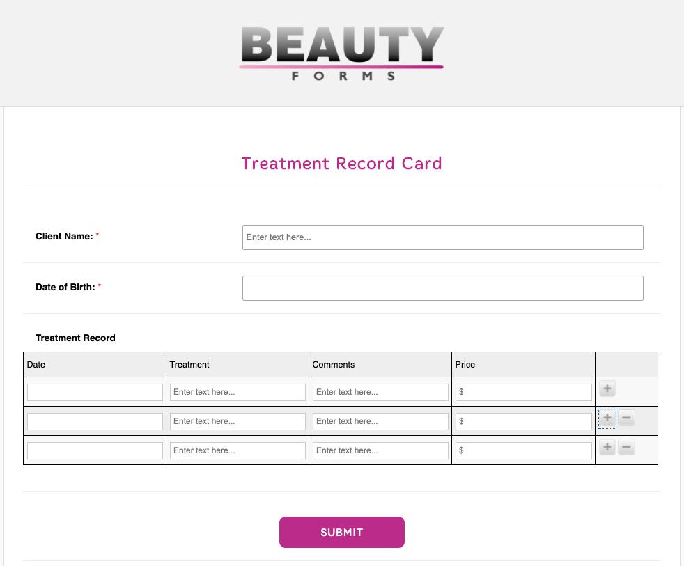 Treatment Record